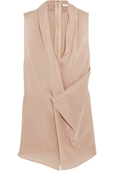 Chalayan Draped Wrap Effect Silk Satin Top