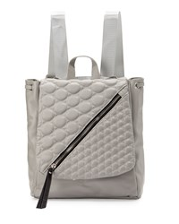 Gx By Gwen Stefani Irene Quilted Flap Backpack Gray Matte