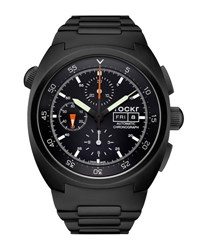 Tockr Watches Air Defender Chronograph Stainless Steel Watch Black