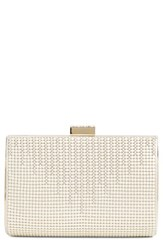 Whiting And Davis 'Diamond Drips' Evening Clutch Ivory Pearl