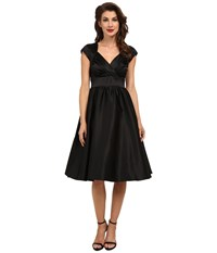 Stop Staring Graciela Swing Dress Black Satin Women's Dress