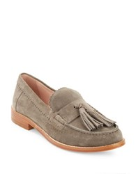 Kate Spade Blaine Suede Tassel Loafers Taupe