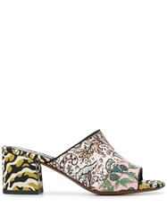 Etro Multi Pattern Heeled Sandals Black