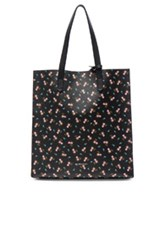 Givenchy Medium Pink Hibiscus Printed Stargate In Black Floral Black Floral