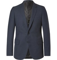 Paul Smith Blue Soho Slim Fit Gingham Wool Suit Jacket Navy