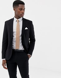 Only And Sons Slim Suit Jacket Black
