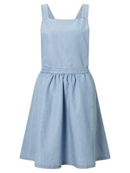 Minimum Inger Apron Dress Light Blue