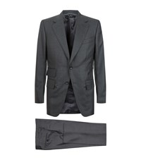 Tom Ford Faint Check Windsor Suit Male Grey