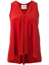 Forte Forte V Neck Tank Top Red