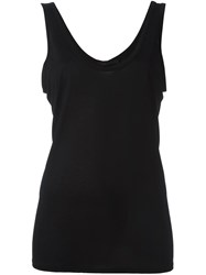 The Row Scoop Neck Tank Top Black