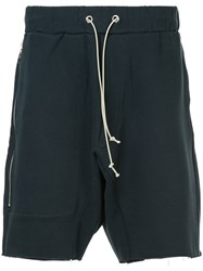 Mr. Completely Drawstring Fitted Shorts Blue