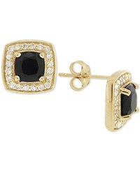 Giani Bernini Black Cubic Zirconia Square Stud Earrings In 18K Gold Plated Sterling Silver Only At Macy's