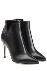 Sergio Rossi Leather Ankle Boots Black