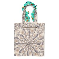 Supersweet X Moumi Parade Of Faces Frilly Tote Green Neutrals
