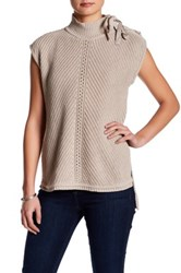 Jessica Simpson Lace Up Cap Sleeve Sweater Beige