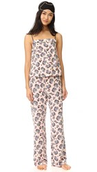 Cosabella Paul And Joe X Cadeau Cami Pants And Mask Floral Cat Pink Snow Black