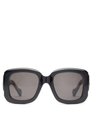 Balenciaga Bb Hardware Square Acetate Sunglasses Black