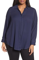 Foxcroft Plus Size Women's Tunic Shirt
