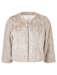 Kaliko Short Faux Fur Jacket Neutral