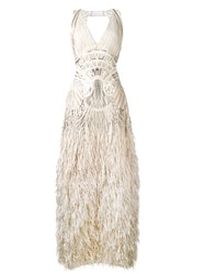 Alberta Ferretti Once Upon A Time Dress Women Silk Polyamide Polyester Other Fibers 42 Nude Neutrals