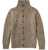 J.Crew Melange Wool Cardigan Brown