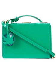 Mark Cross Small 'Grace Box With Leaf Charm' Shoulder Bag Green