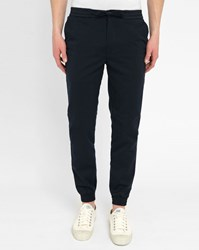 Minimum Navy Henspant Trousers With Elasticated Waist And Drawstring