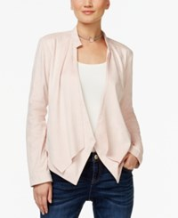 Inc International Concepts Draped Faux Suede Jacket Only At Macy's Shy Blush