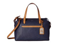 Lauren Ralph Lauren Lindley Addie Satchel Marine Satchel Handbags Blue