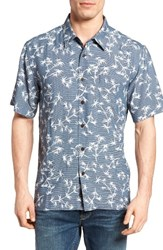 Quiksilver Men's Waterman Collection Skinny Palms Print Sport Shirt