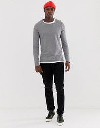 Tom Tailor Melange Jumper Grey