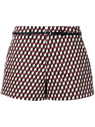 Loveless Cube Print Shorts Multicolour