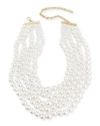 Fallon Monarch Pearly Choker Bib Gold