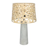 Amara Woven Bamboo And Concrete Lamp Natural