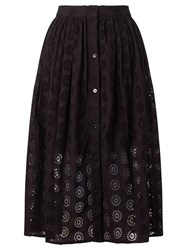 Alice By Temperley Somerset By Alice Temperley Frayed Broderie Skirt Black