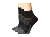 Feetures Elite Merino Ultra Light Cushion Quarter Charcoal Lime Quarter Length Socks Shoes Green
