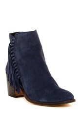 Kenneth Cole Reaction Rotini Fringe Ankle Boot Blue