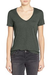Women's Bp. V Neck Tee Green Ivy