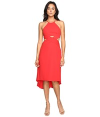 Halston Halter Dress With Cut Out Detail Scarlet Women's Dress Red