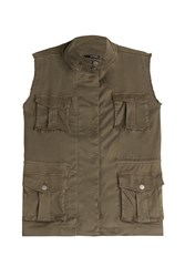 The Kooples Cargo Vest Green