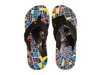 Dc Central Graffik Blue Black Yellow Men's Sandals