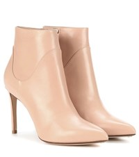 Francesco Russo Leather Ankle Boots Neutrals