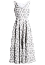 Swing Maxi Dress Ivory Black