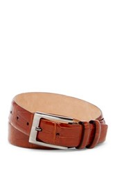 Tommy Bahama Croc Embossed Italian Leather Belt Beige