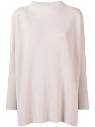 Lorena Antoniazzi Ribbed Knit Sweater Nude And Neutrals