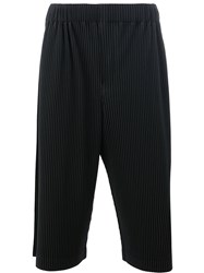 Homme Plisse Issey Miyake Pleated Cropped Trousers Black
