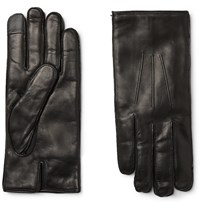 Dunhill Cashmere Lined Leather Gloves Black