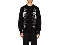 Ovadia And Sons Wool Cowboy Intarsia Knit Sweater Black