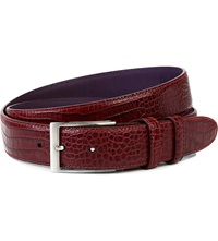 Elliot Rhodes Bogart Smart Leather Belt Burgundy