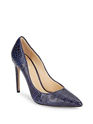 Alexandre Birman Caddy Crocodile Point Toe Pumps Indigo